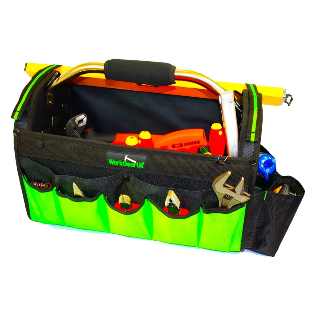 """Work Gear Uk 20"""" Open Tote bag With Heavy Duty Base and 20 pockets WG-TX02"""