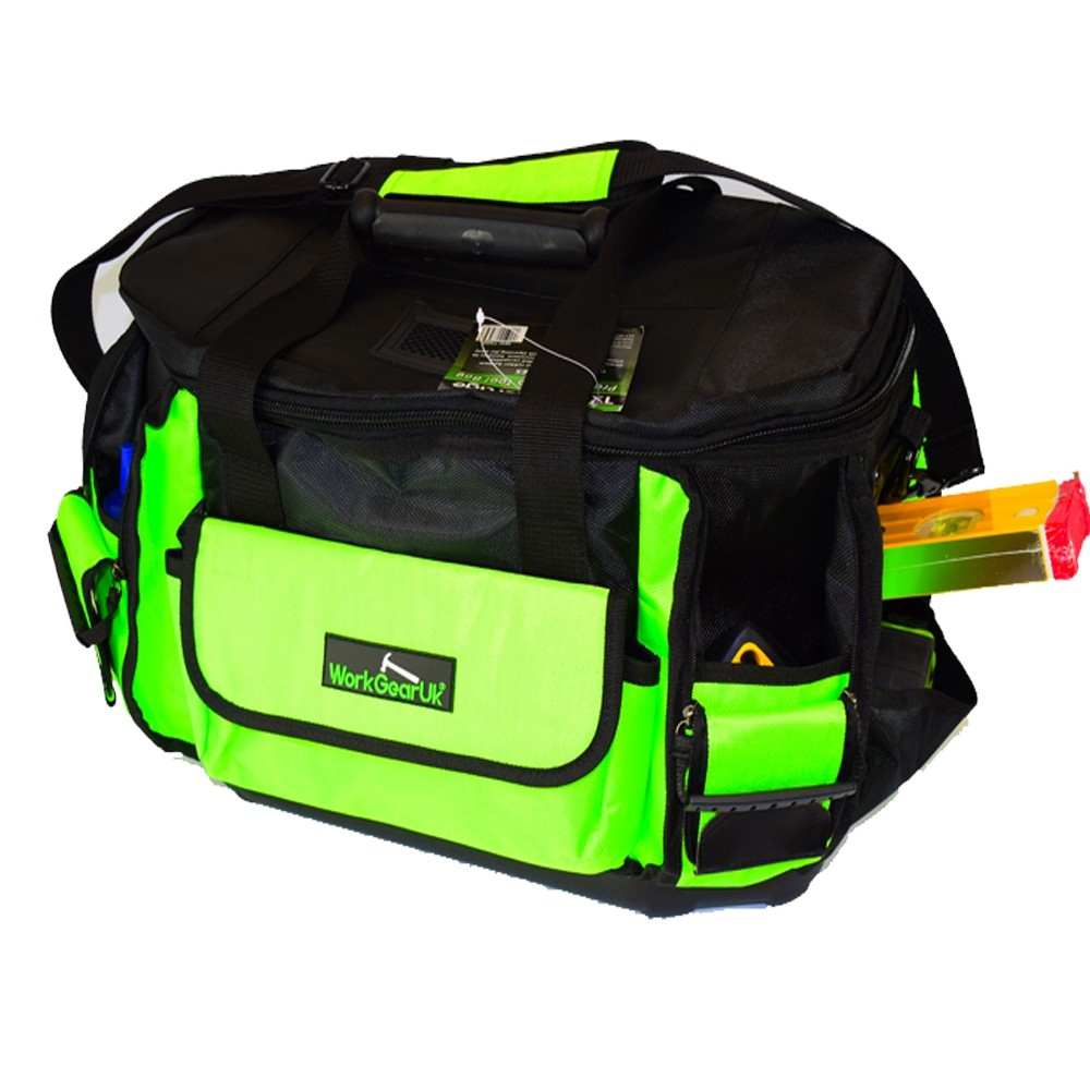 Work Gear Uk Professional Bag with Round Top Heavy Duty Tool Bag with Padded Shoulder Strap WG-TX09