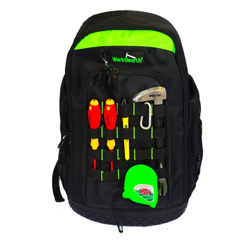 Work Gear Uk Extreme Tool Backpack with a water proof base WG-TX11