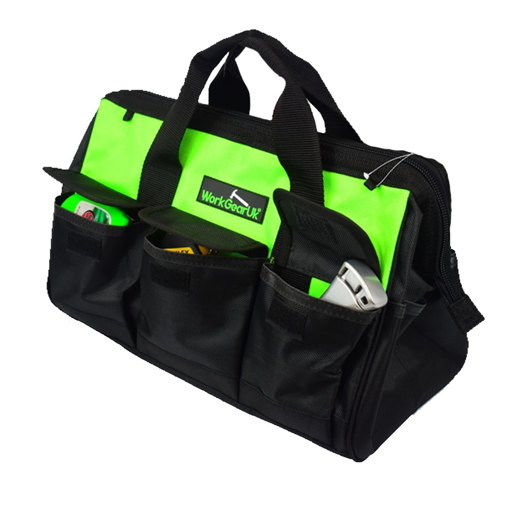 """Work Gear Uk 16"""" tool bag water resistant fabric and 12 pockets in Total WG-TX03"""