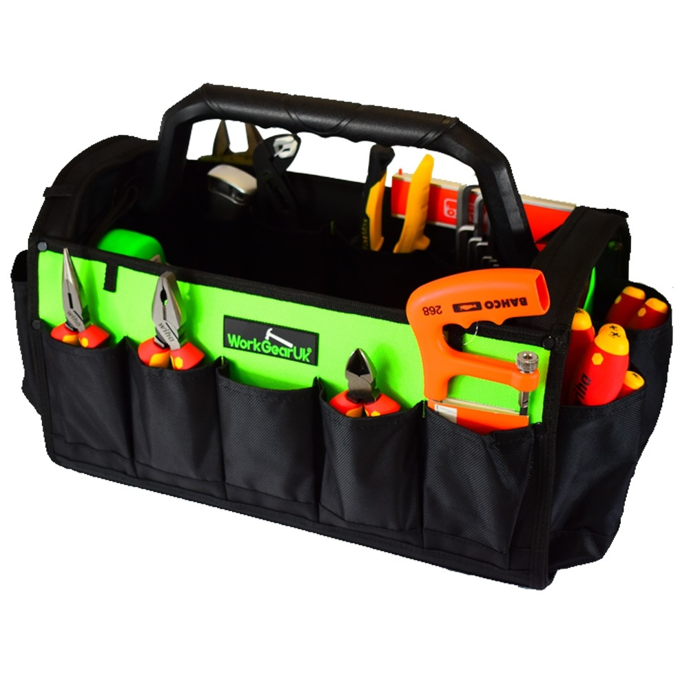 """Work Gear Uk 17"""" Open tote with rotating handle WG-TX0"""