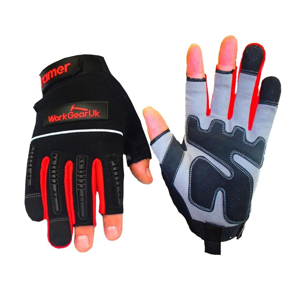 WorkGearUk Framer Fingerless Glove with EVA Padded Palm WG-Framer Size Large