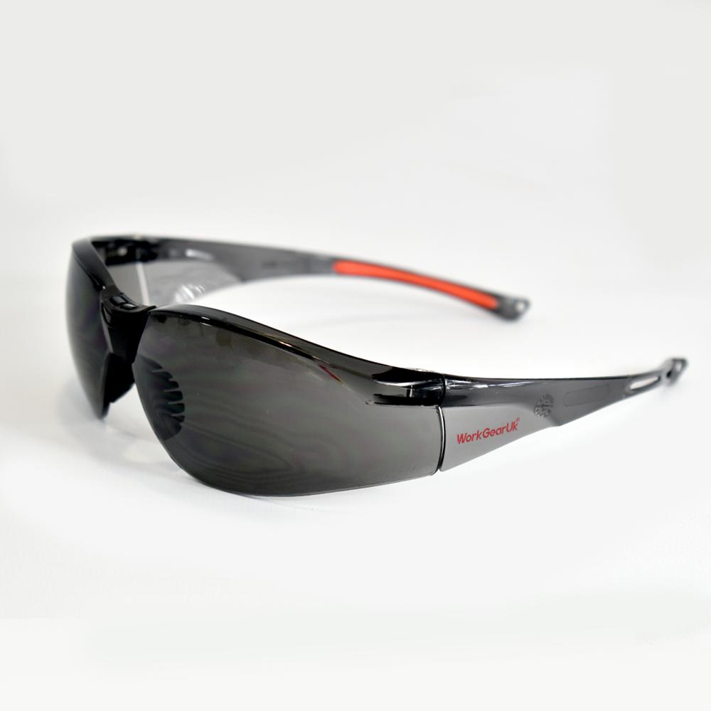 Work Gear Uk GX02 Grey Lens CE EN 166 Safety Glass WG-GX02