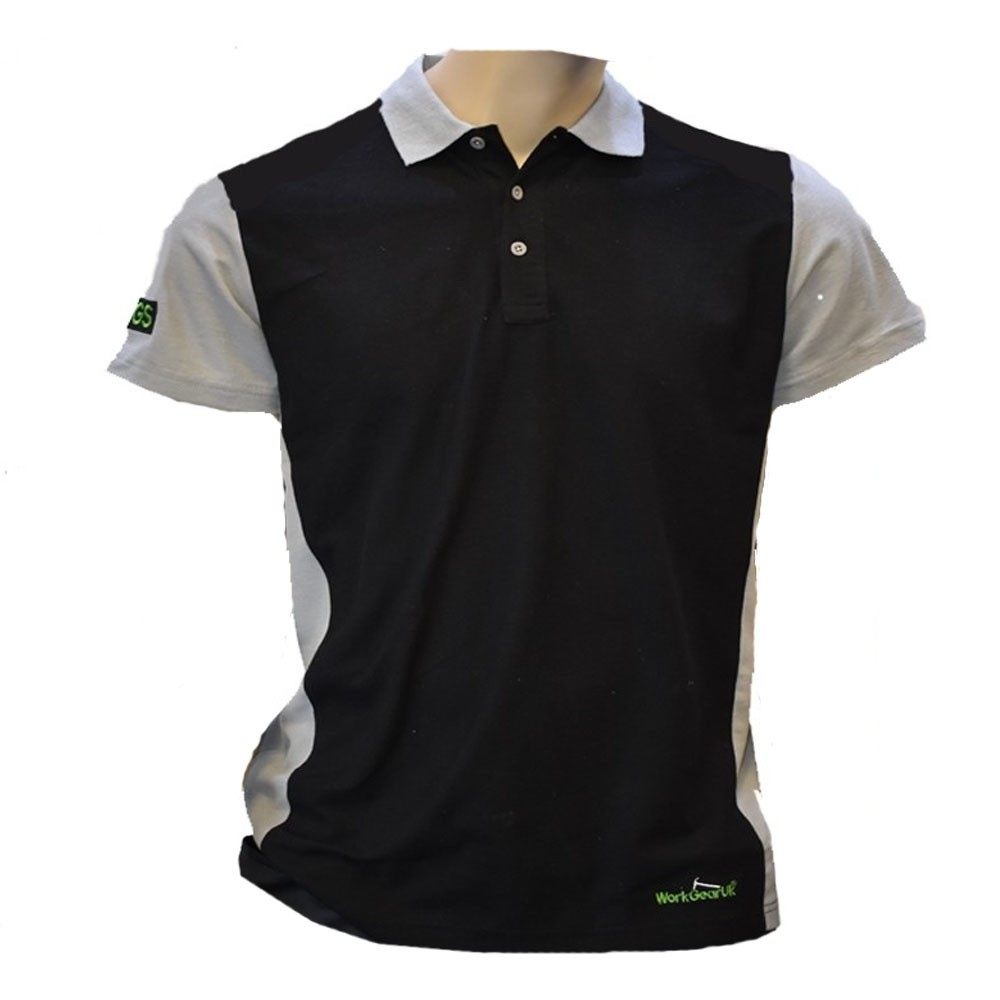 orkGearUk Black and Grey Polo Shirt Size Medium,Large,X Large,XX Large WG-PS01