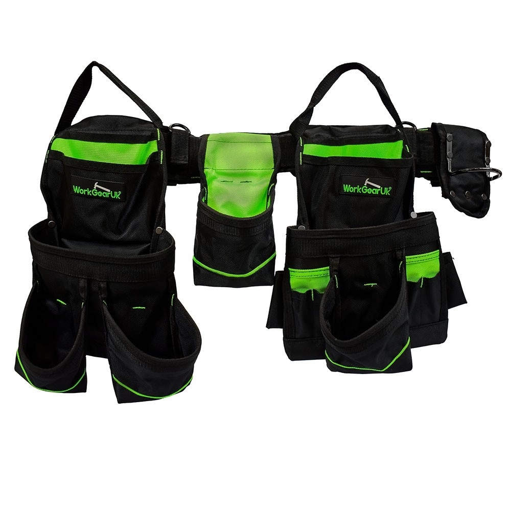 WORK GEAR UK HEAVY DUTY NYLON TOOL BELT SET WG-PX01