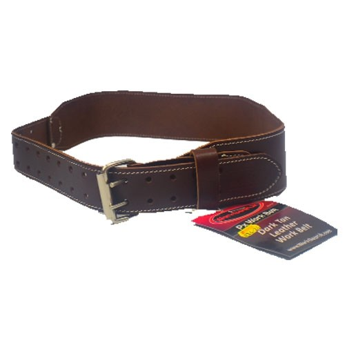 "Work Gear Uk 2.75"" Leather Belt in Heavy Duty Top Grain Leather With a Dark Tan Finish WG-PX44"