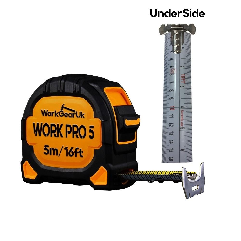 WorkGearUk Work Pro 5 5m/16ft-27mm tape WG-TM06