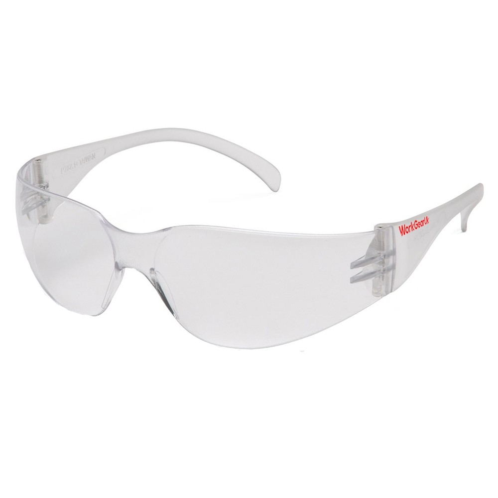 Work Gear Uk GX05 Clear Lens Safety Glass CE EN166 WG-GX05