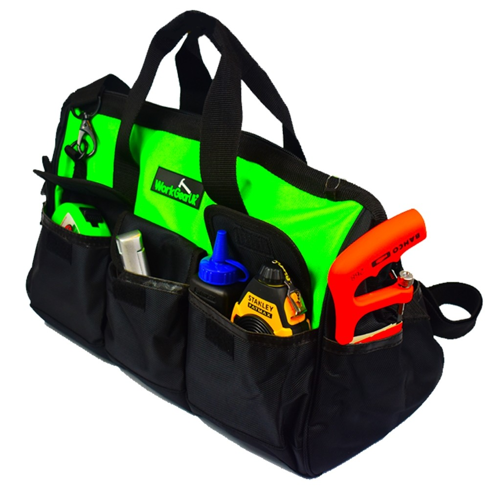 """Work Gear Uk 18"""" Tool Bag with a water Resistant Fabric and 24 pockets in Total WG-TX04"""