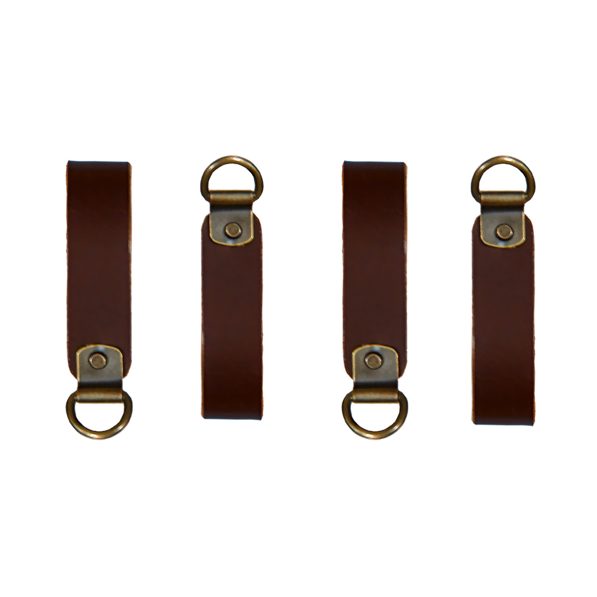 WorkGearUK WG-BL02 Leather D-Ring Loops for suspender attachment set of 4