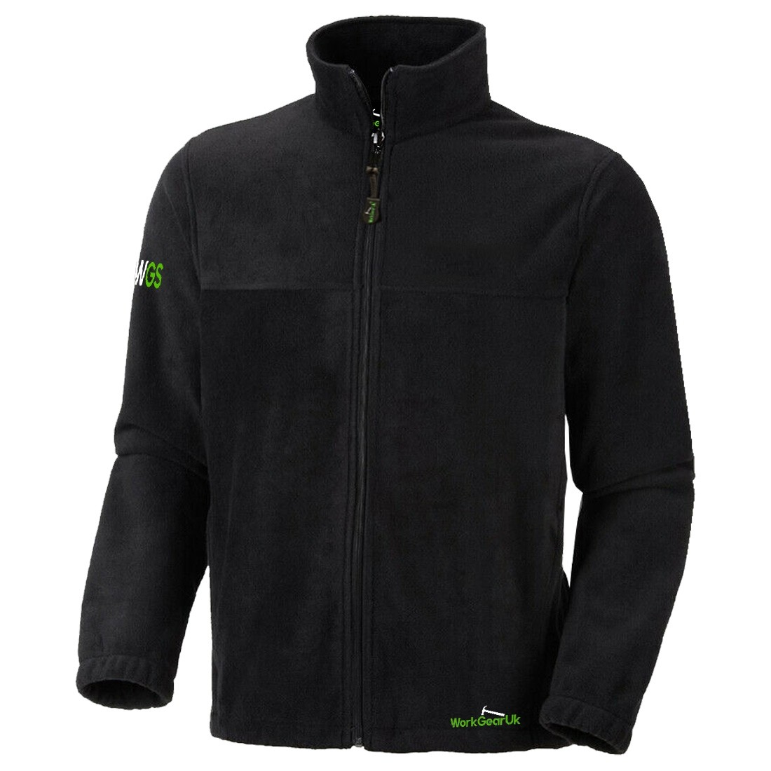 WorkGearUK Full Zip Black Fleece WG-FL02