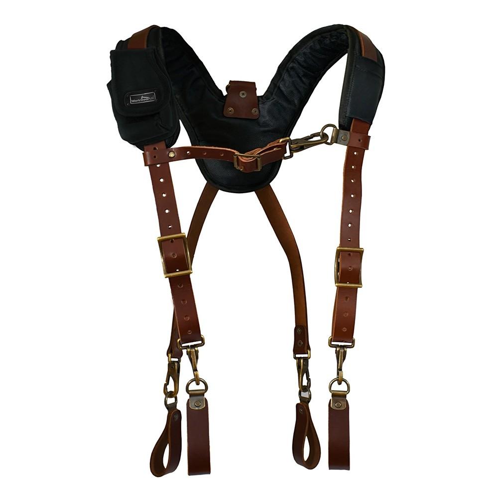 WorkGearUK Leather Tool Belt Work Braces WG-HDB07