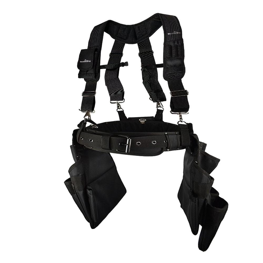 Work Gear Uk 15 Pocket Jumbo Tool Belt Set Heavy Duty 1680 Denier polyester Fabric WG - PX18