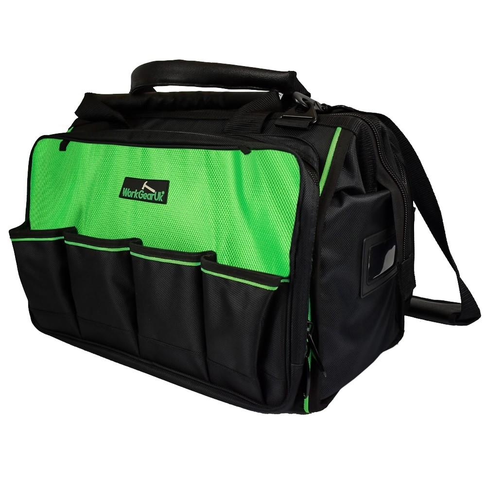 "Work Gear Uk 18"" Total Tech Tool Bag Storage Organiser Tool Holder WG-TX06"